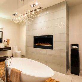 fireplace in bathroom Park Ridge
