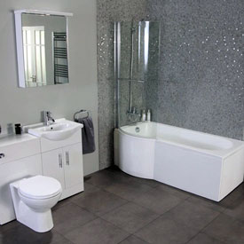 grey bathroom remodeling contractors Wilmette