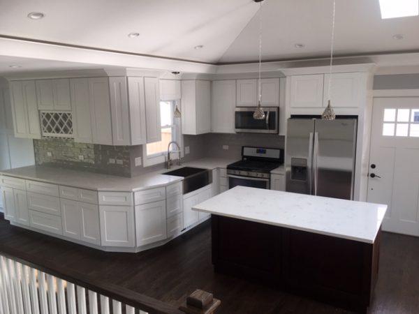 white kitchen remodeling contractors Skokie