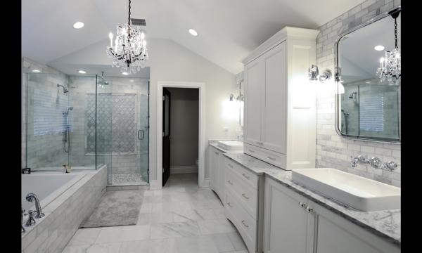 white bathroom remodeling contractors